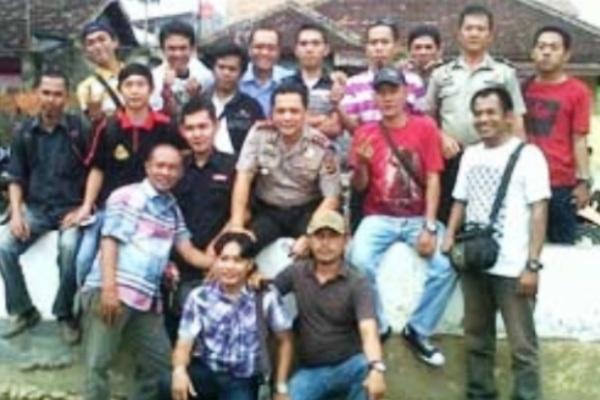 Kapolres dan Wartawan. Kotabumi Lampung Utara