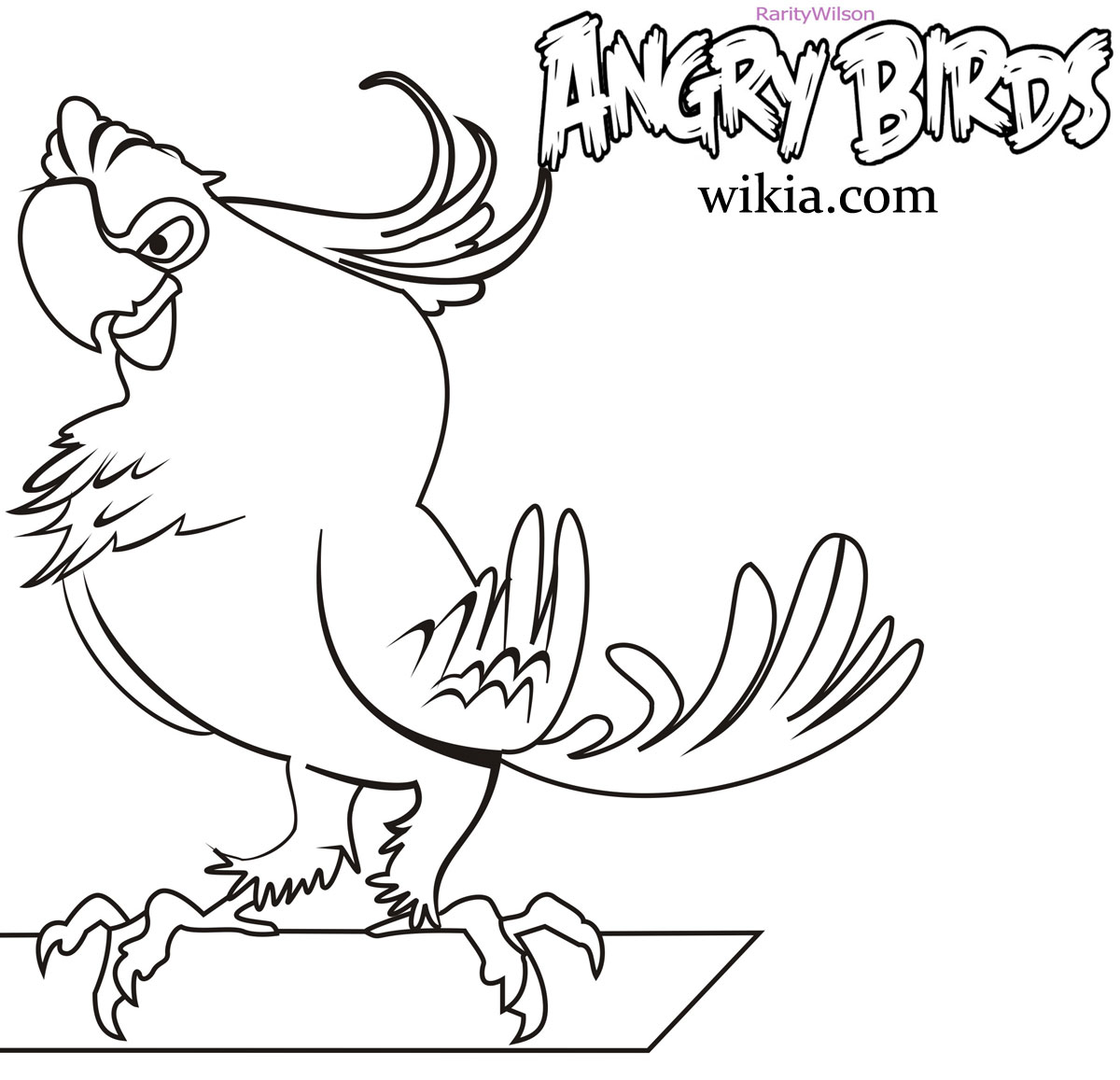 Most Useful Angry Birds Coloring Pages
