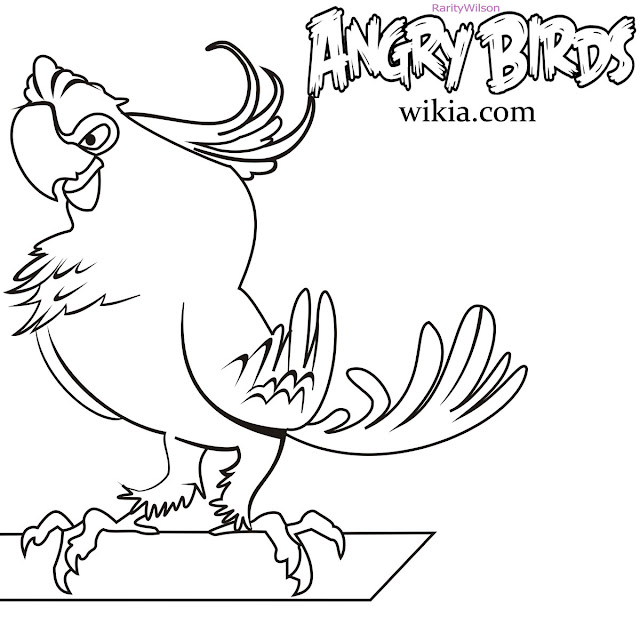 Free Angry Birds Rio Coloring Pages