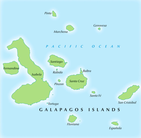 Reference Map Of The Galapagos Paolomi And Corys Journey To The - Galapagos map
