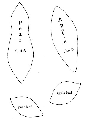 fiberluscious: How to make a Pattern for an Apple Pincushion