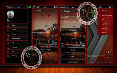 BBM Mod Transparant Red Themes New Versi 2.10.0.30 Apk Clone