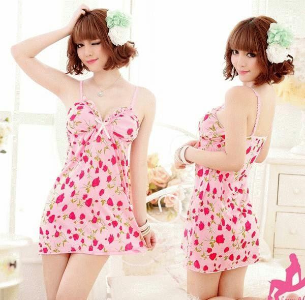 Baju Tidur Cantik FG165 warna pink
