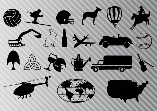 Free Travel Graphic Icon Vector Set