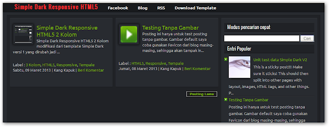 Free Download Template Dark Responsive HTML5 V2