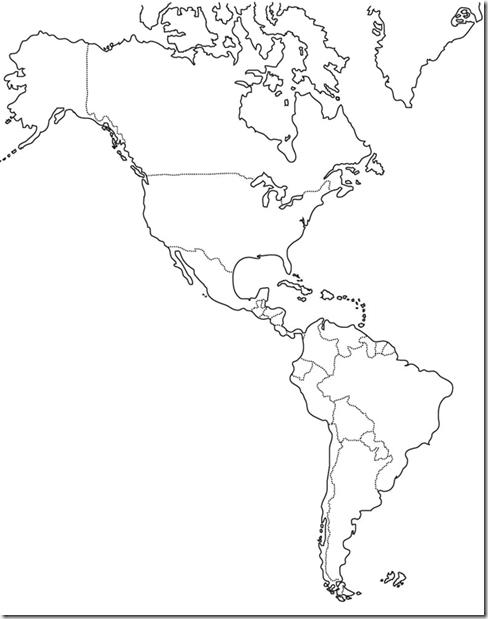 Mapa del continente americano politico para imprimir - Imagui
