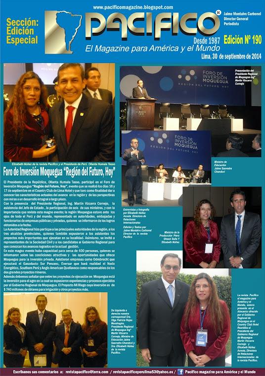 Revista Pacífico Nº 190 Edición Especial Moquegua