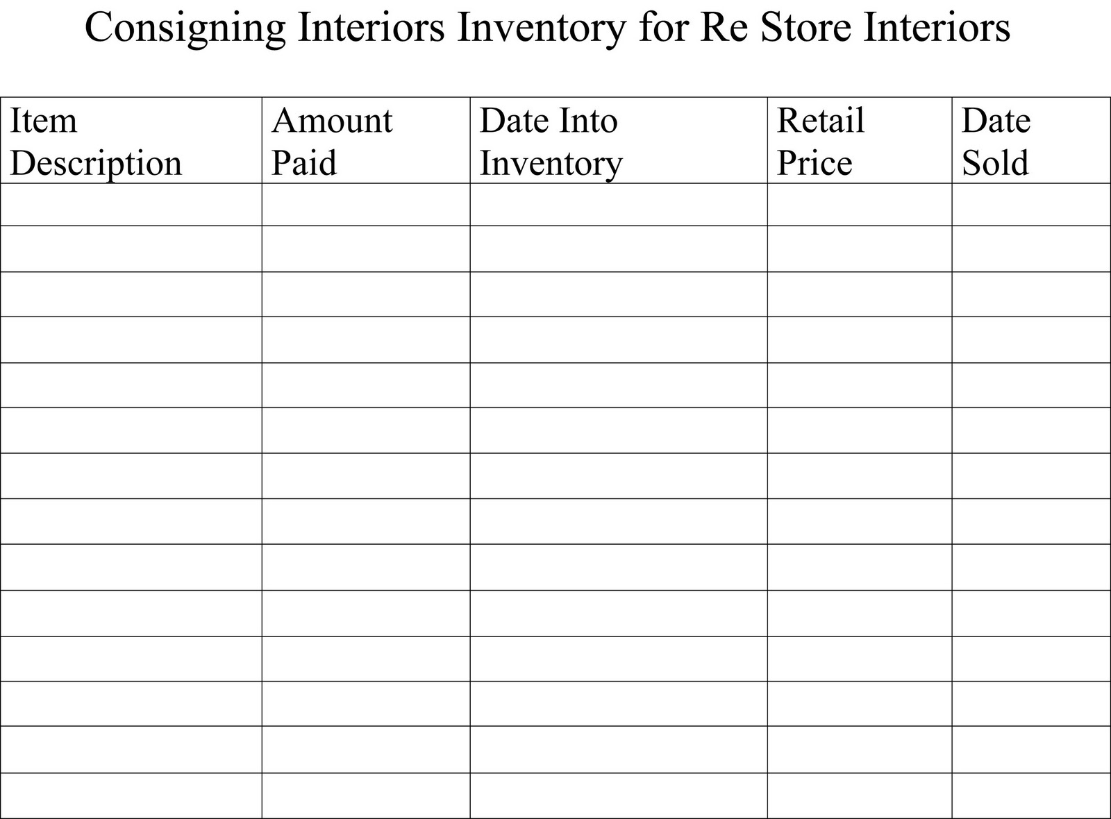 INVENTORY SHEETS AND MY BOOTH - How to organize invoices on excel online thrift store furniture