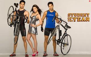 Student Of The Year Sizzling Hot Alia Bhatt, Varun Dhawan, Sidharth Malhotra cycling Wallpaper