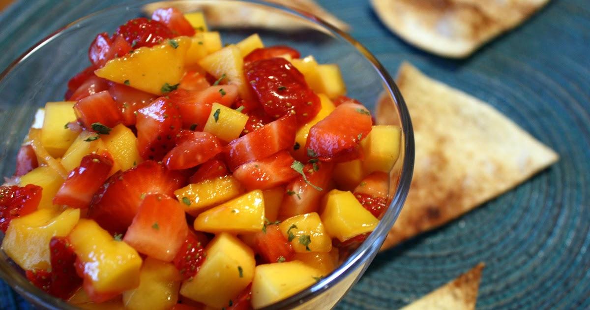 ... Cuisine: Strawberry Mango Salsa with Cinnamon Sugar Tortilla Chips