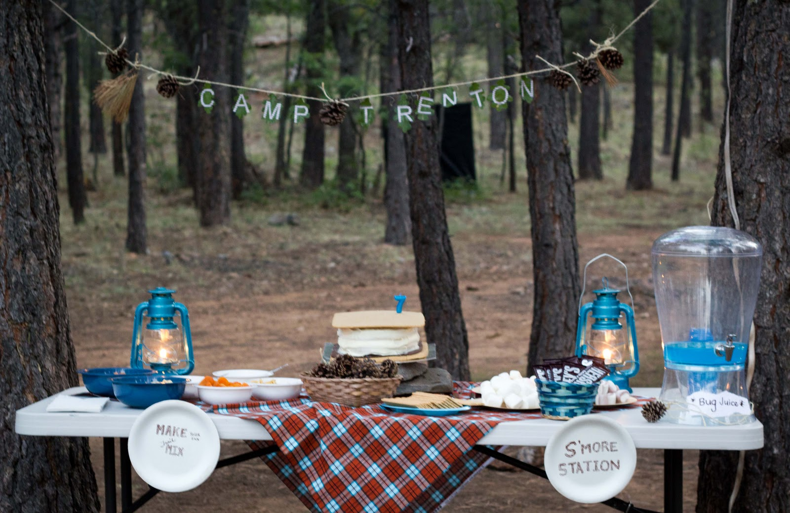 Camping birthday party ideas indoor camping theme party for Camp designs
