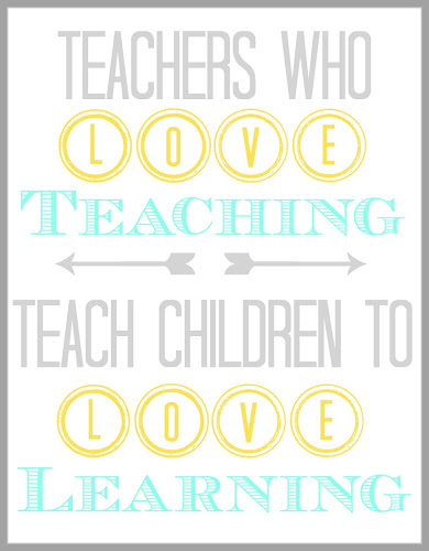 Teacher Appreciation Printable from Blissful Roots