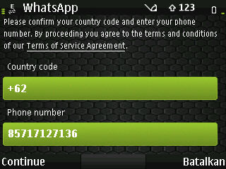 how to continue using whatsapp on symbian