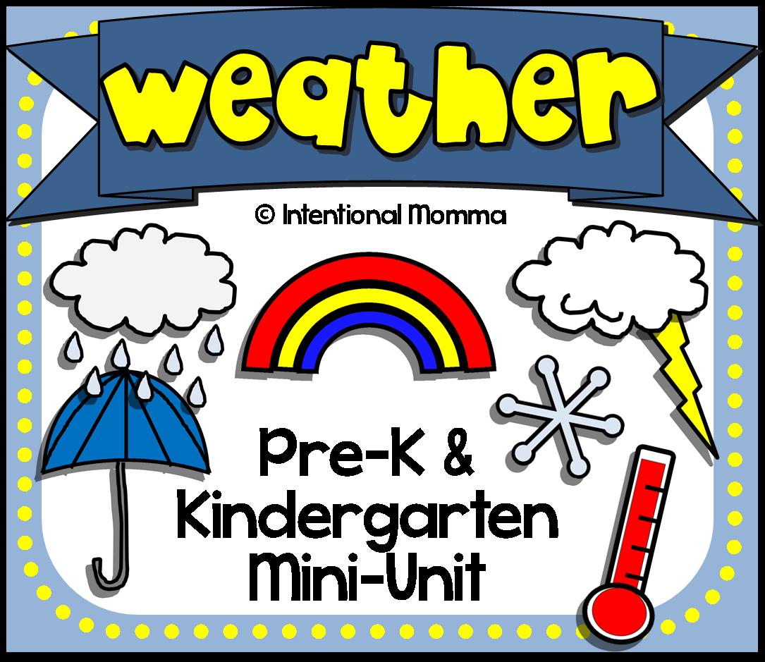 preschool pre-k kindergarten rain sun clouds