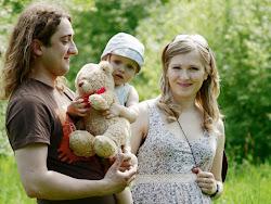 Mąż-Bart, Eryk i ja (z Laurą w brzuchu)