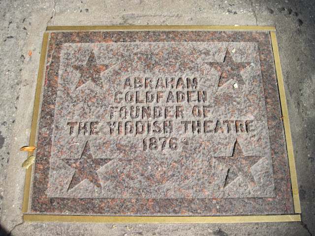 The founder of the Old New York landmark the Yiddish Theater Walk of Fame Abraham Goldfaden's star