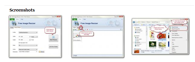 resize your images in a single click