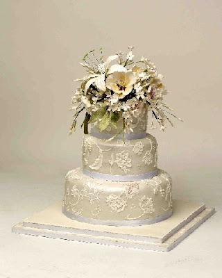 Spring white Wedding Cake