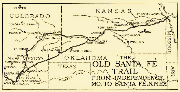 Map of the Santa Fe Trail.