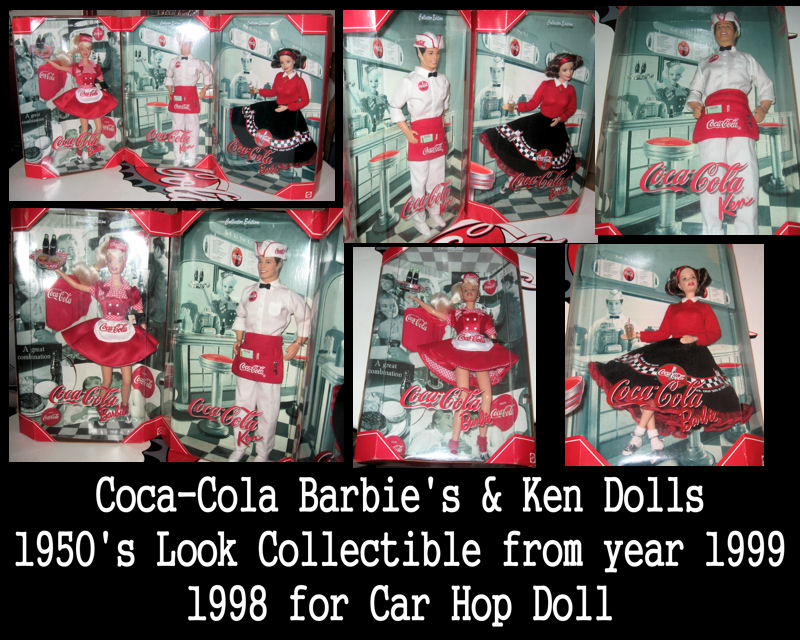 jusbcuz patterns gifts coca cola barbies soda fountain ken soda jerk collectibles coke barbies. Black Bedroom Furniture Sets. Home Design Ideas