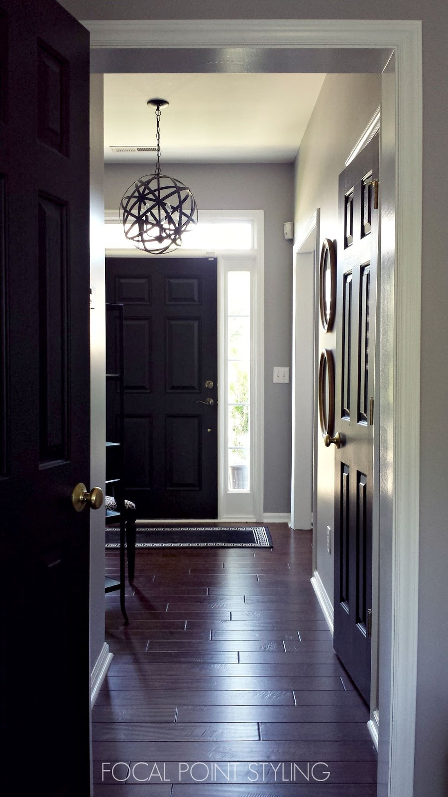 Focal point styling how to paint interior doors black for Black interior paint