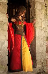 Robe de mariée guerrière elfique