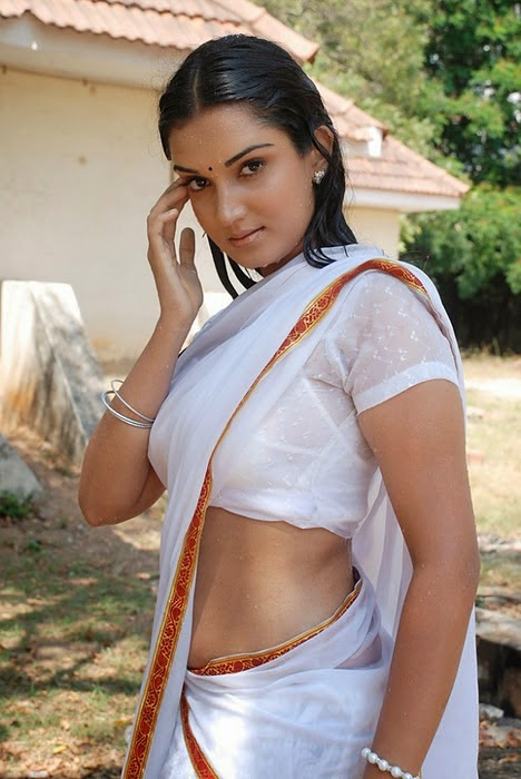 Hot South Actress Low Hip Saree Photos_Actress Wear Saree Under Navel ...