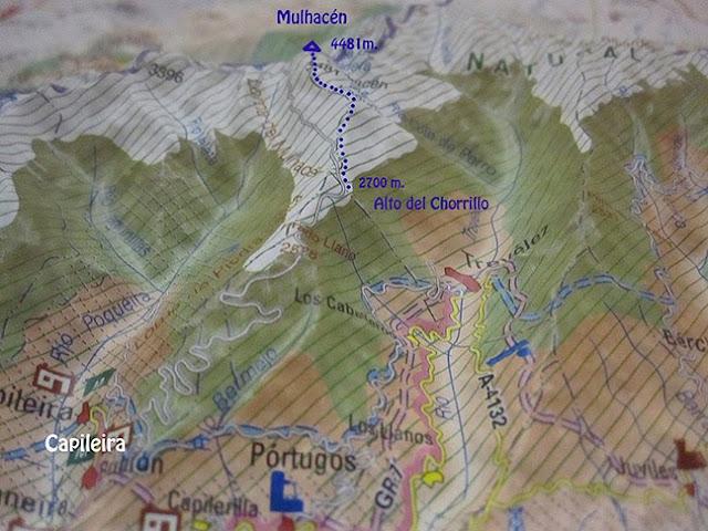Mulhacen desde Alto del Chorrillo, Capileira