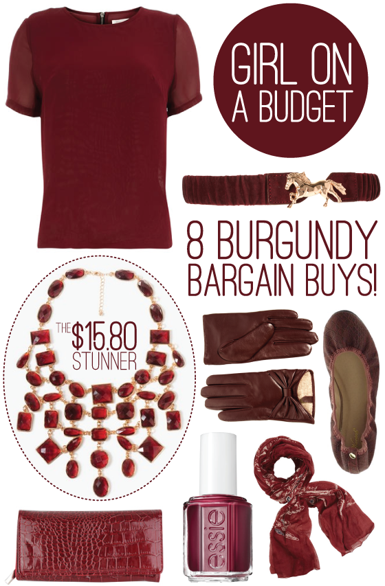 burgundy bargain buys