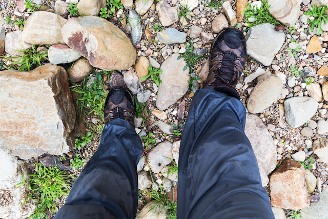 wet boots after crossing lerderderg river