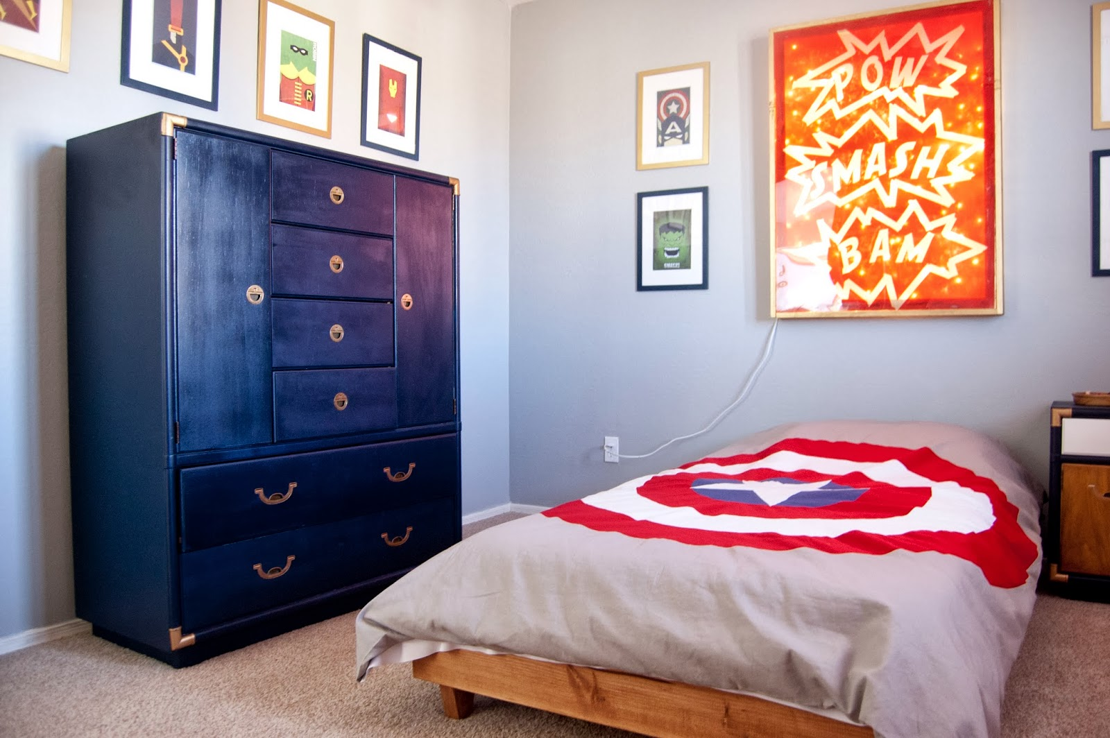 Boys Superhero Room 551 East Rhett U0027s Room A Super Hero Reveal