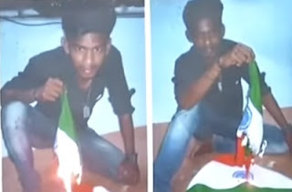 Case filed against Youth who burnt National Flag   News7 Tamil
