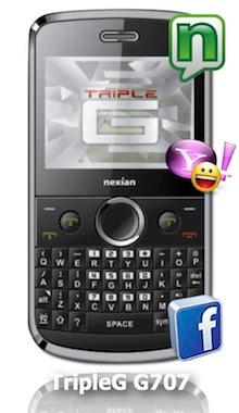 Harga Nexian TripleG G707 Spesifikasi dan Fitur