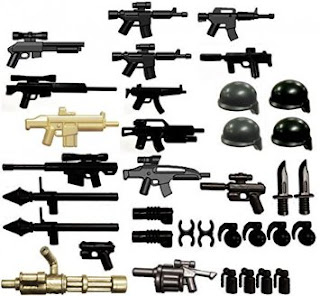 Mini weapons for Lego