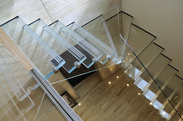 floating glass staircase