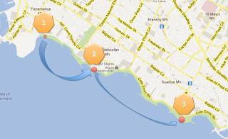 Caddebostan sahil harita geocaching