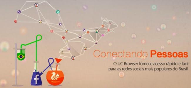 A melhor experiência de navegação no Facebook móvel é com o UC Browser