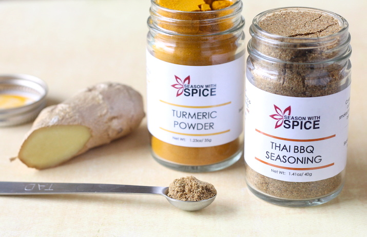 turmeric and thai bbq seasoning available at SeasonWithSpice.com
