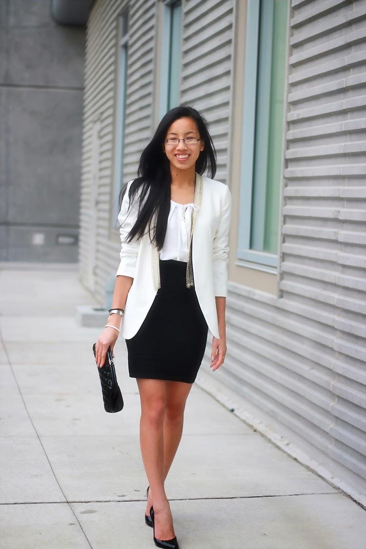 maje chain blazer jacket bcbg power bandage skirt