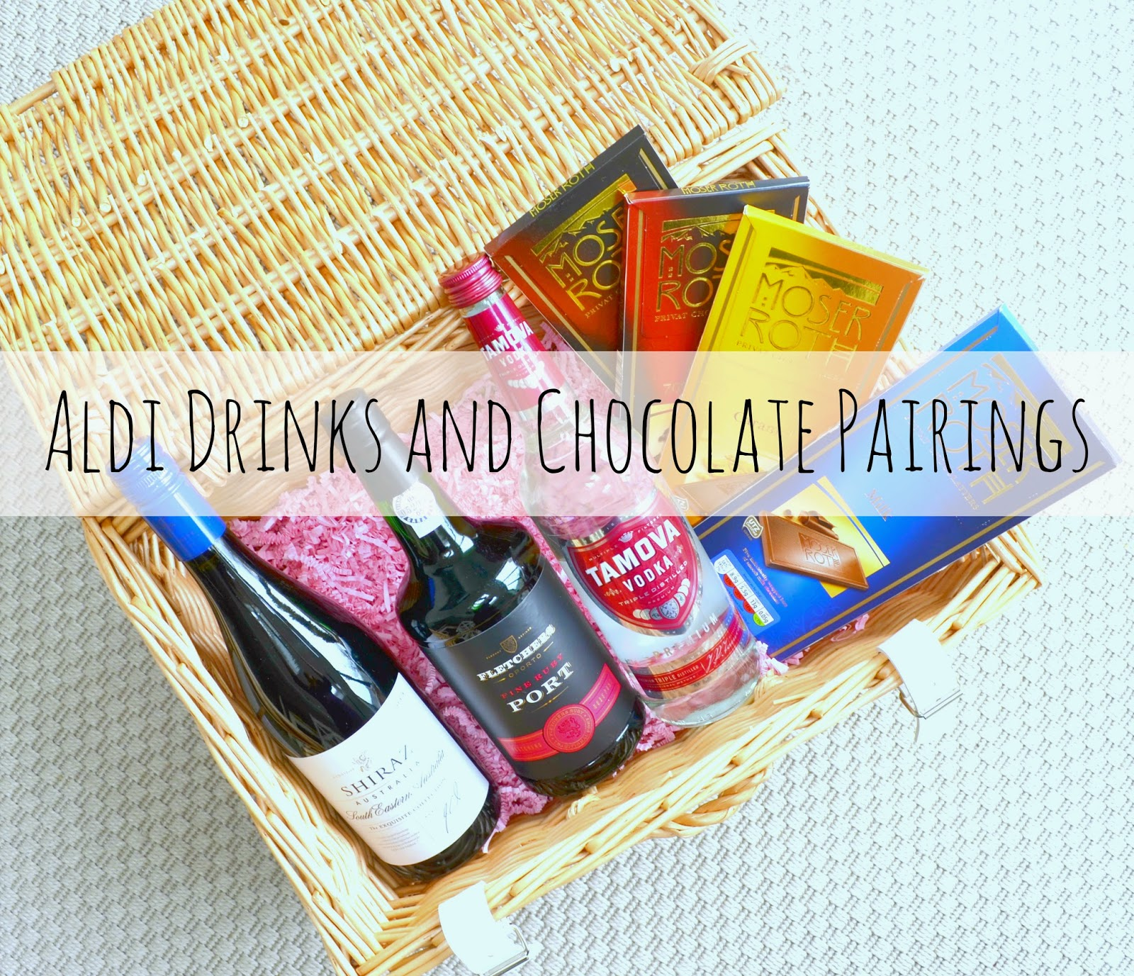 Aldi Drinks and chocolate
