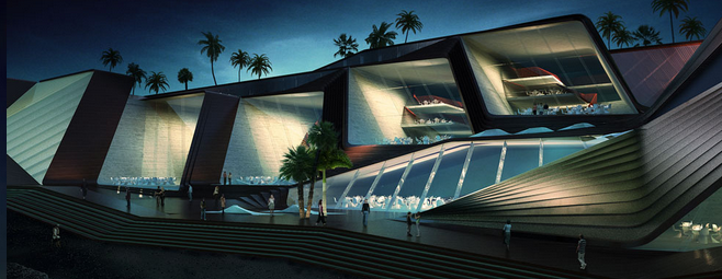 Rhino architectural rendering