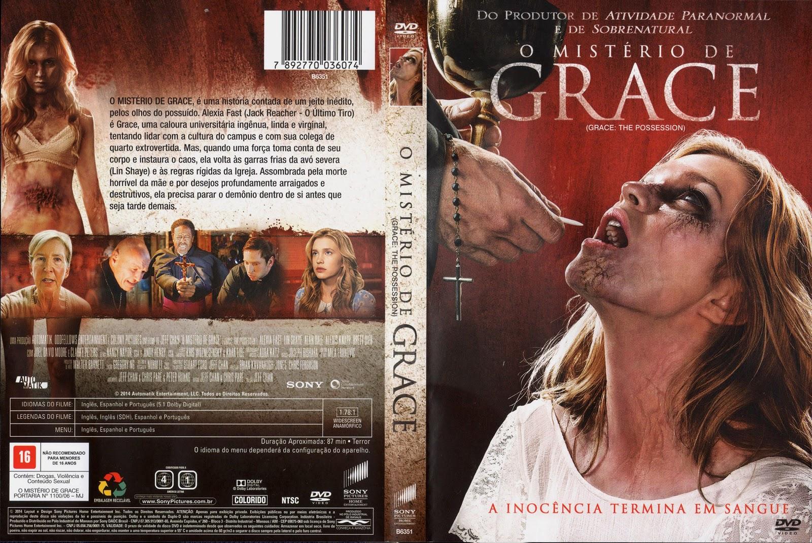 Capa DVD O Mistério De Grace