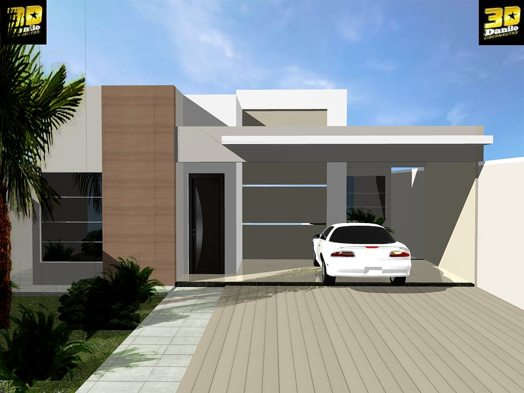 3danilo maquetes eletr nicas 3d fachada 3d casa no b for Casas 3d