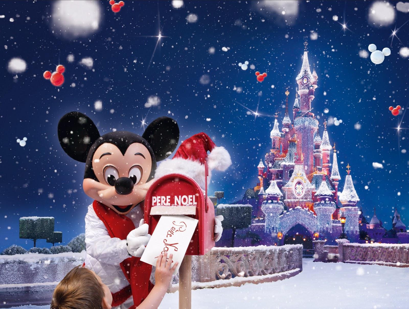 Fondo de Navidad de Disney