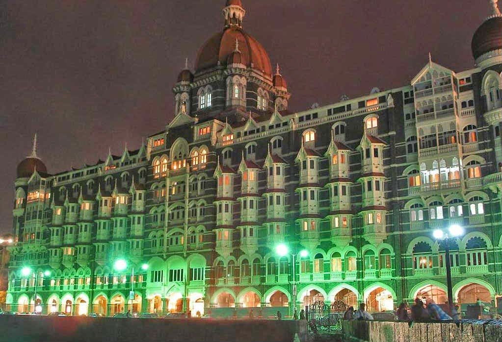 The Taj Mahal Palace Hotel at night