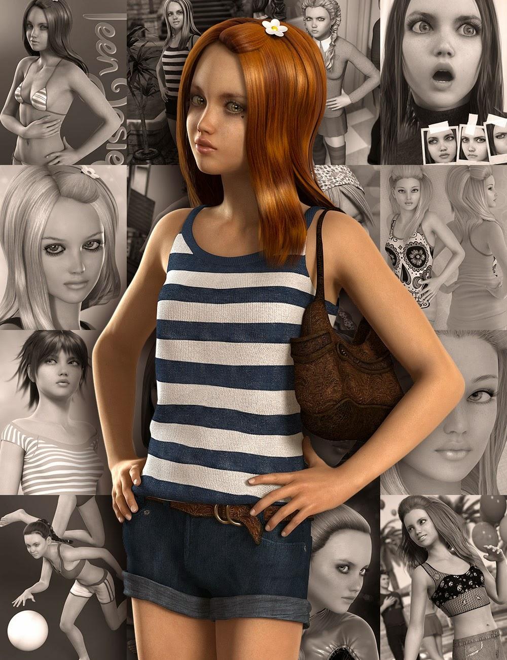 3d teen model cartoon movie