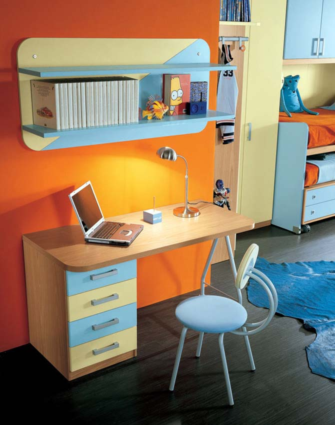 colorfull kids study room furniture