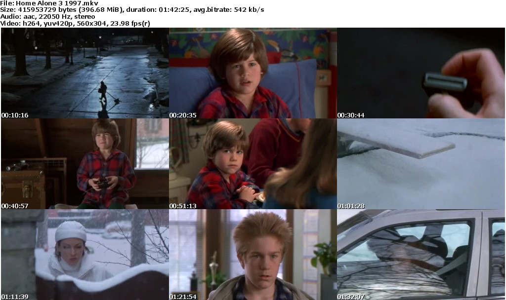 Home alone 3 1997 mkv movies for Home alone 3