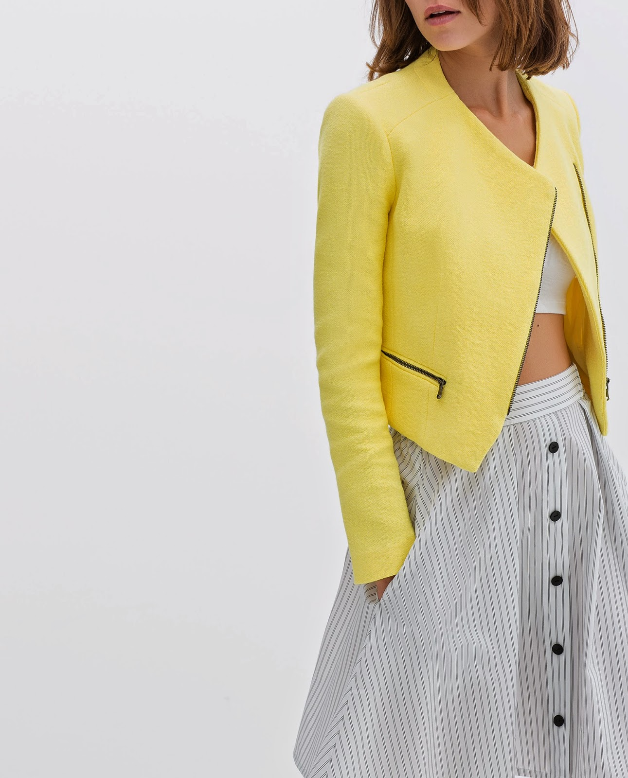 zara yellow cardigan