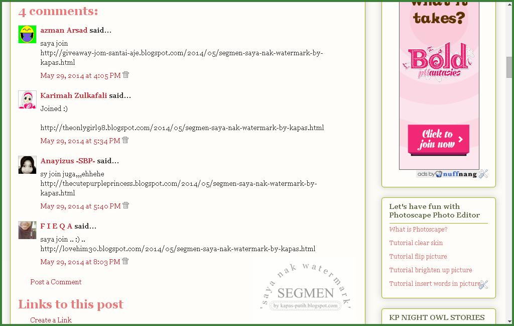 SEGMEN: Saya nak watermark by kapas-putih.blogspot.com